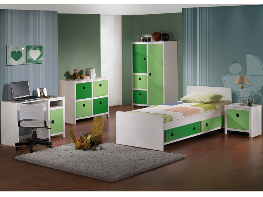 ticaa kleiderschrank cubo gr n ebay. Black Bedroom Furniture Sets. Home Design Ideas