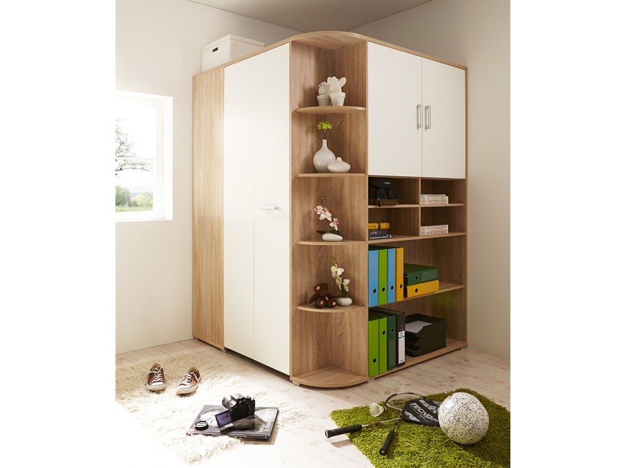 begehbarer kleiderschrank corner sonoma wei kinder jugendzimmer komplett sets corner. Black Bedroom Furniture Sets. Home Design Ideas