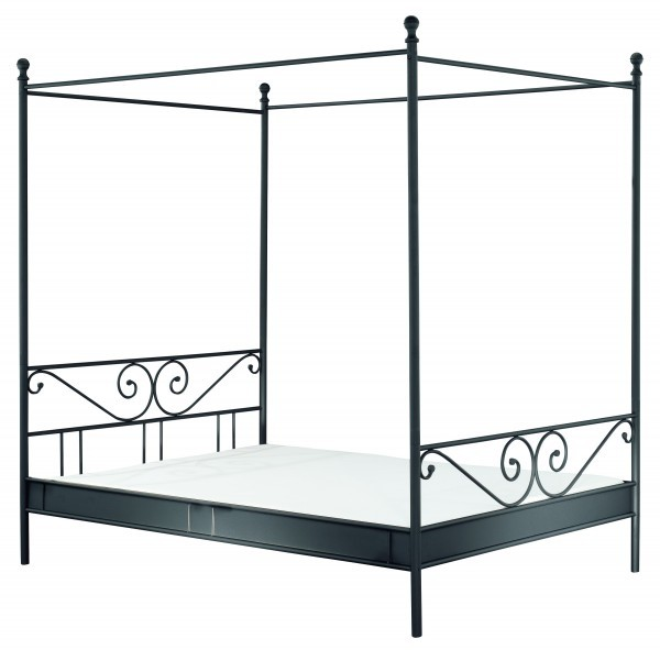 metallbett himmelbett schwarz schlafzimmer metallbetten. Black Bedroom Furniture Sets. Home Design Ideas