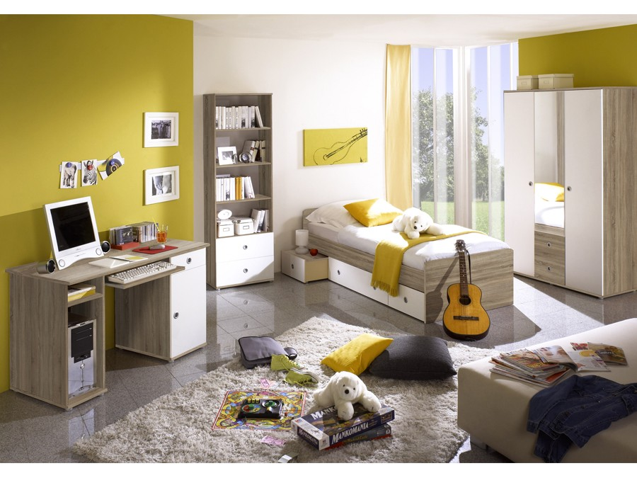 jugendzimmer vicky sonoma wei kinder jugendzimmer komplett sets vicky. Black Bedroom Furniture Sets. Home Design Ideas
