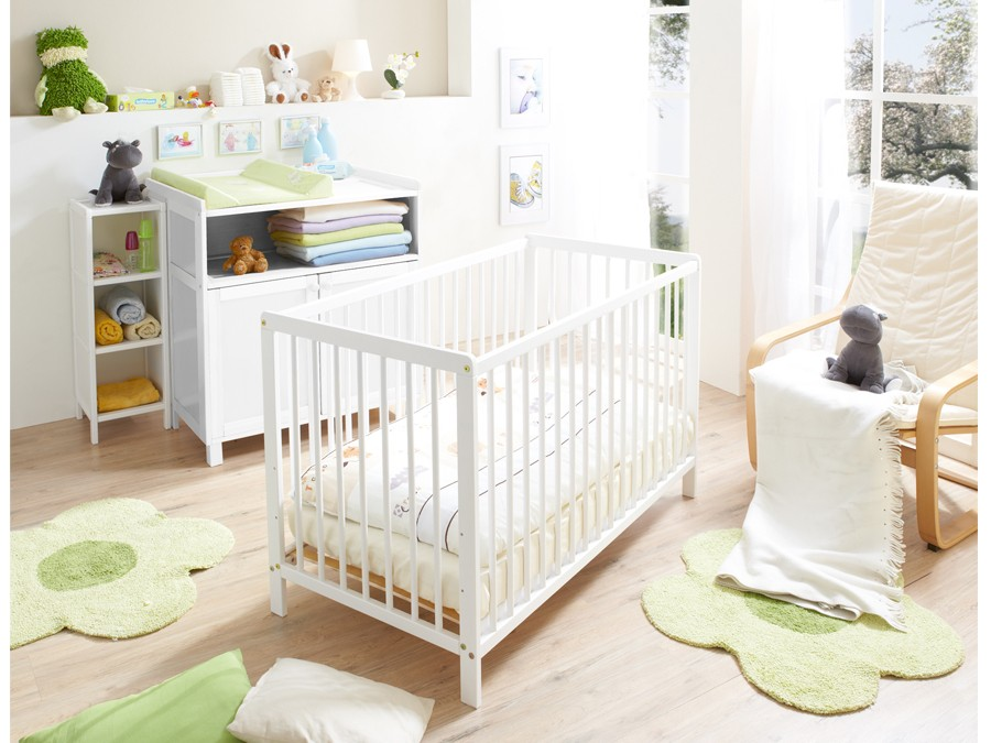 babybett gitterbett croco wei kiefer massiv babyzimmer komplett sets croco. Black Bedroom Furniture Sets. Home Design Ideas