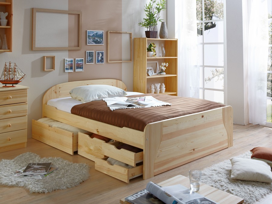 doppelbett mit schubladen massivholz doppelbett mit. Black Bedroom Furniture Sets. Home Design Ideas