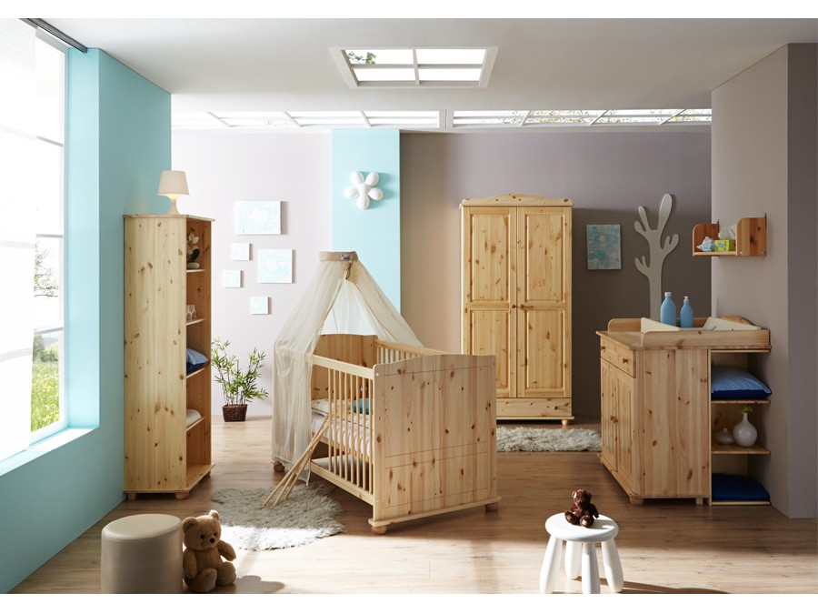 babyzimmer adam 5 teilig kiefer natur babyzimmer. Black Bedroom Furniture Sets. Home Design Ideas