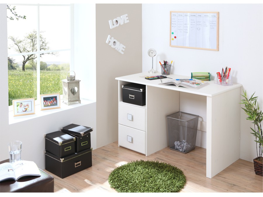 schreibtisch computertisch kiefer massiv wei kinder jugendzimmer schreibtische. Black Bedroom Furniture Sets. Home Design Ideas